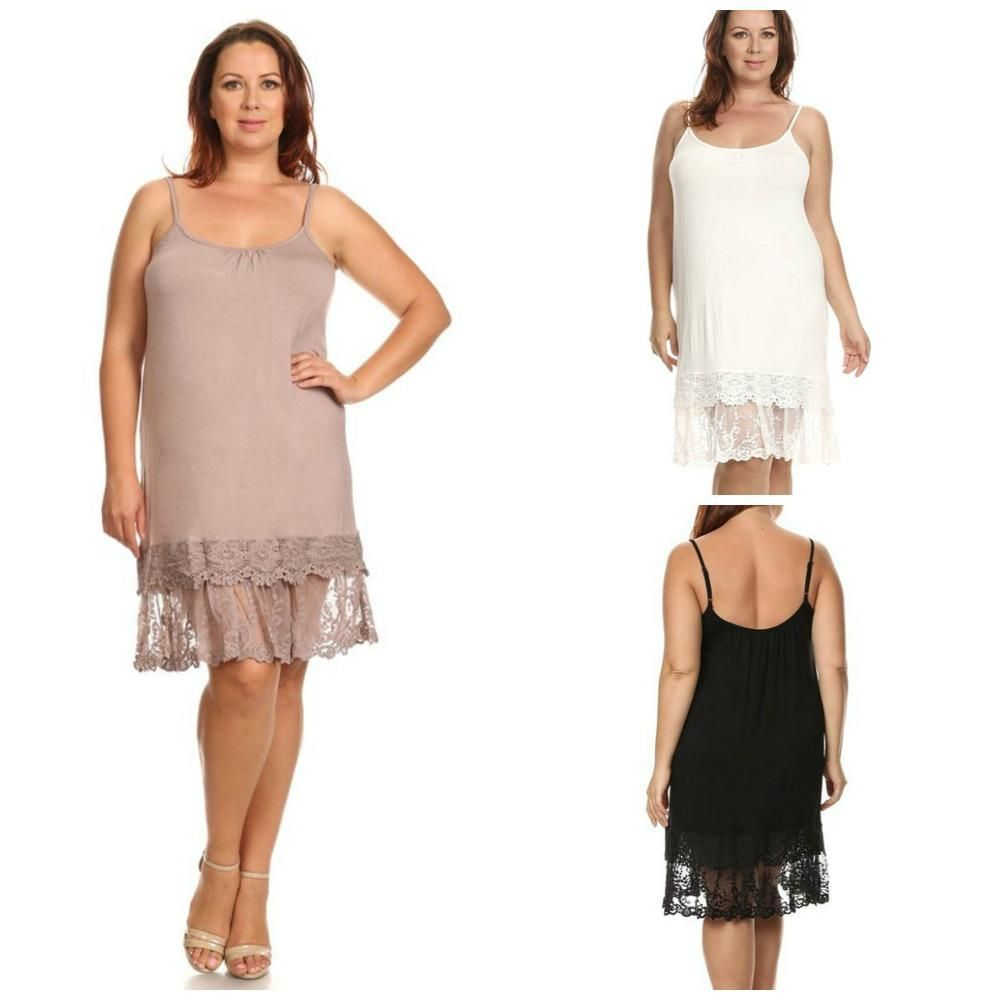 2c7c25e77330d LuxbyJulia.com Lace Extender Slip - lengthen a dress or skirt Sizes Small  through 4X