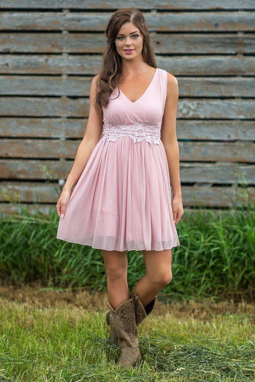 short pink dress for wedding