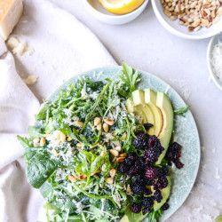 kale arugula salad I howsweeteats.com-8
