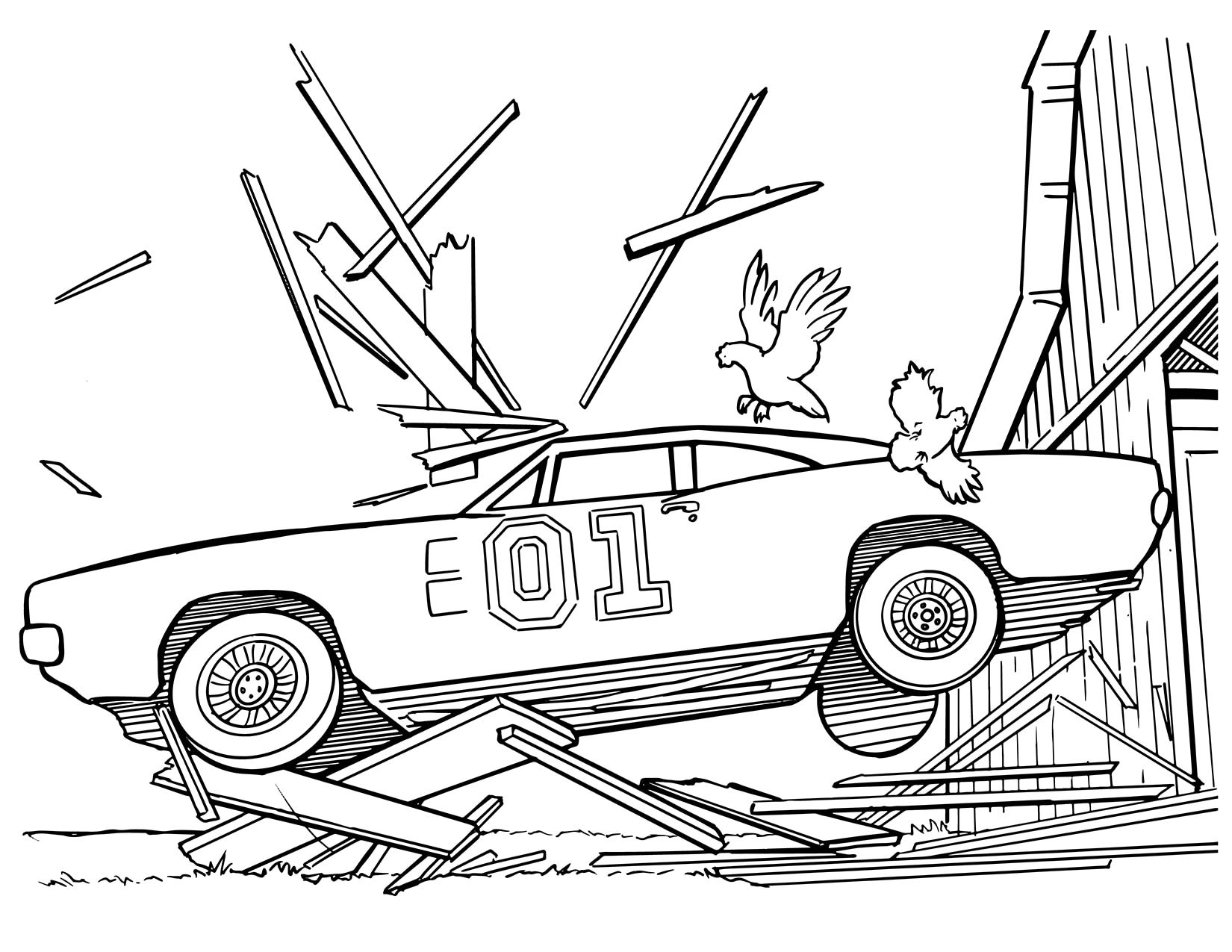 General Lee Coloring Pages