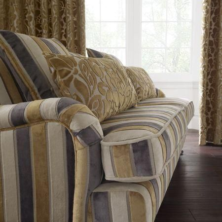 Clarke And Academy Velvets Fabric Collection Velvet Striped Sofa Cover With Fl Print Cushions