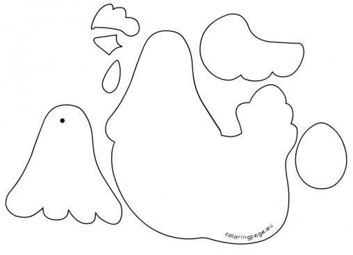 hen egg template
