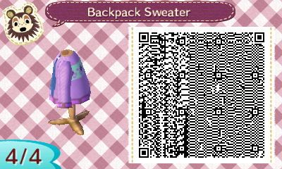 Sweater/Jumper with Backpack | QRCrossing.com
