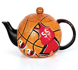 "It's time for March Madness! Basketball teapots make me think of other heretofore strange combinations... Like  ""Pride and Prejudice and Zombies"""