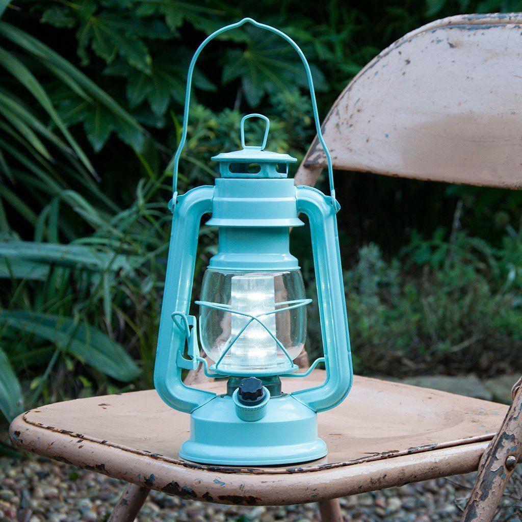 Blue L.e.d Battery Powered Hurricane Lamp Hurricane