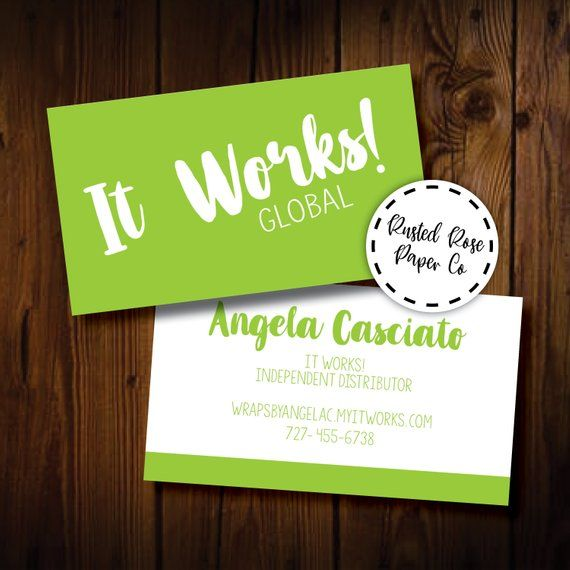 Printable It Works! Global Business Cards Digital File ...