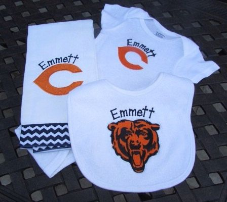 Personalized chicago bears orange c and bear by tinycuties4cuties explore bear design baby gift sets and more personalized chicago negle Gallery
