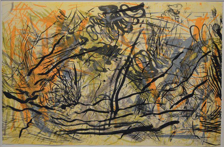 Lynda Benglis (American, b. 1941) Barrier Wave. Original monoprint, 1993.
