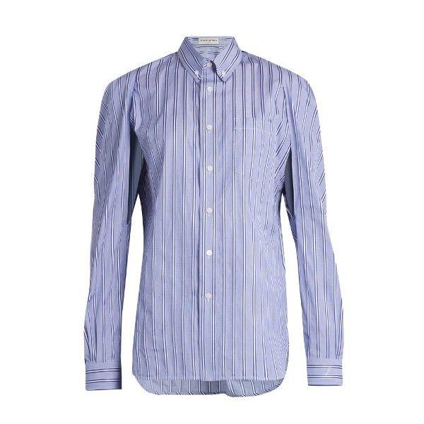 Cotton-chambray Shirt - Blue Balenciaga In China Discount Low Shipping Fee Cheap 100% Original Really Sale Reliable PTZeQRoa