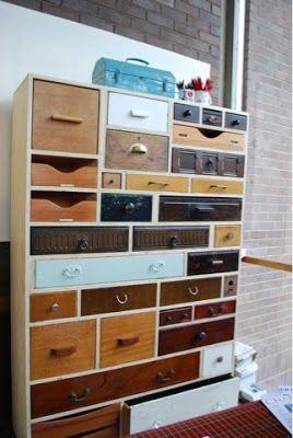 Aproveitando gavetas antigas em comoda nova