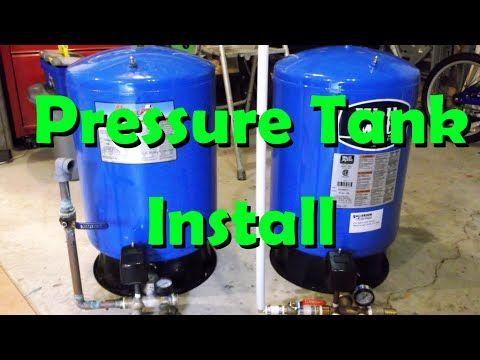 Installing A Pressure Tank Artesian Well Youtube Pressure Tanks Well Water Pressure Tank Pex Plumbing