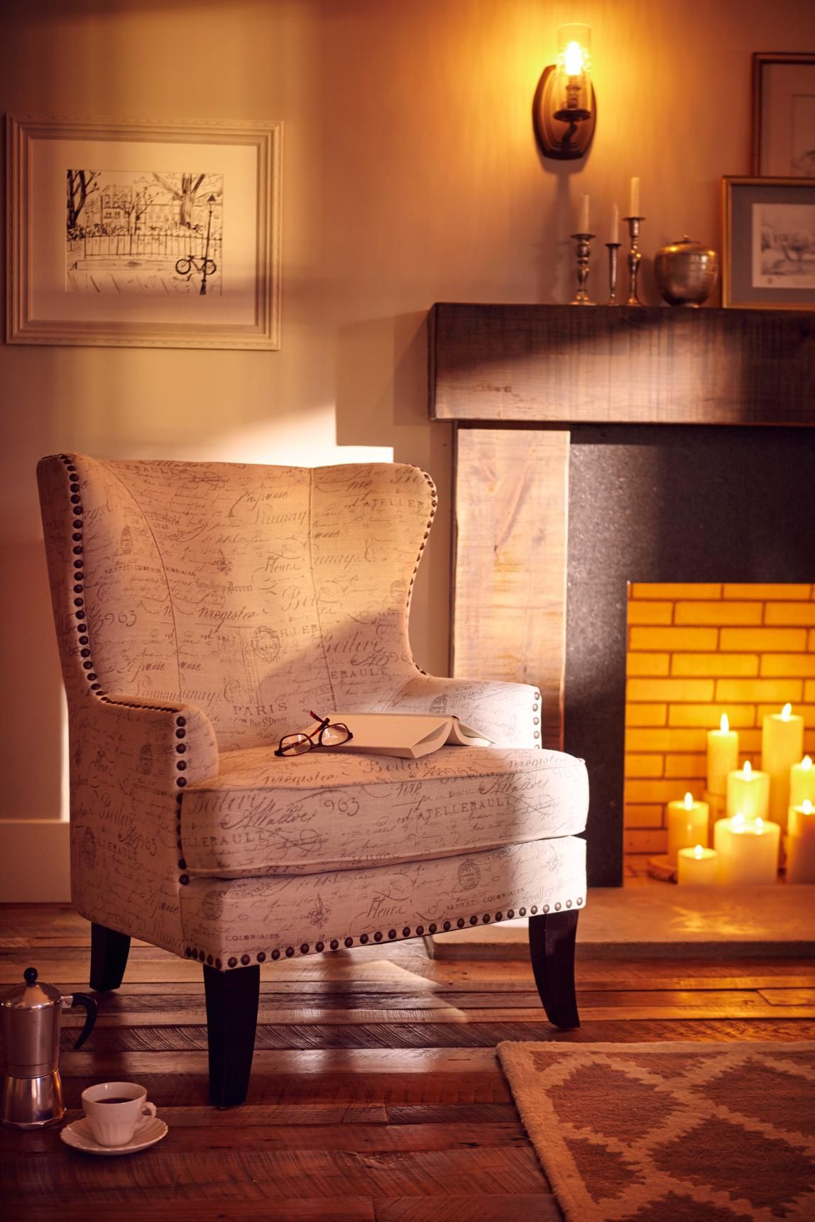Cozy Up Next To The Fire On Our Super Soft And Comfy Marseille Chair Perfect For Cold Nights And Good Books Small Bedroom Decor Cozy Small Bedrooms Home Decor