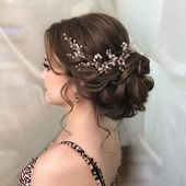 Rustikale Vintage Hochsteckfrisur Hochzeitsfrisur für langes Haar mit Blumen und ... Hochzeit... - Beauty - Make UP #hairpiecesforwedding