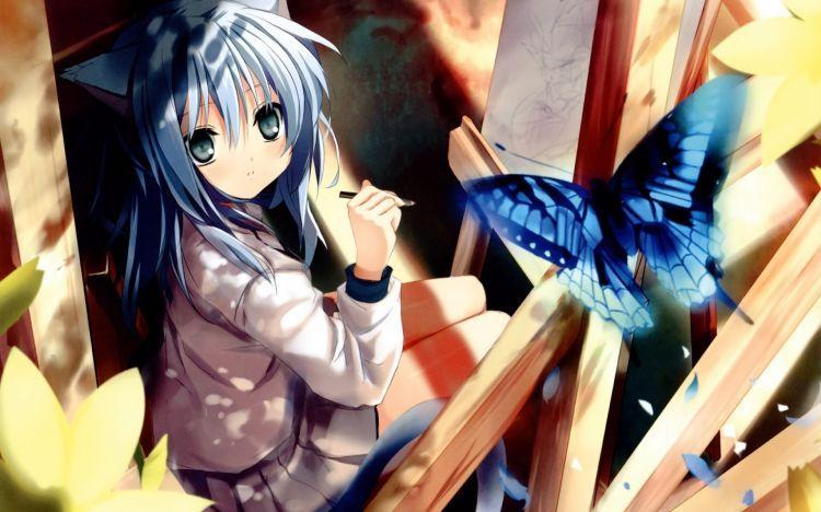 Fonds D Ecran Manga Fonds D Ecran Divers Filles Wallpaper N 369334 Par Bobysan Hebus Com Anime Neko Art Anime Fille Chat