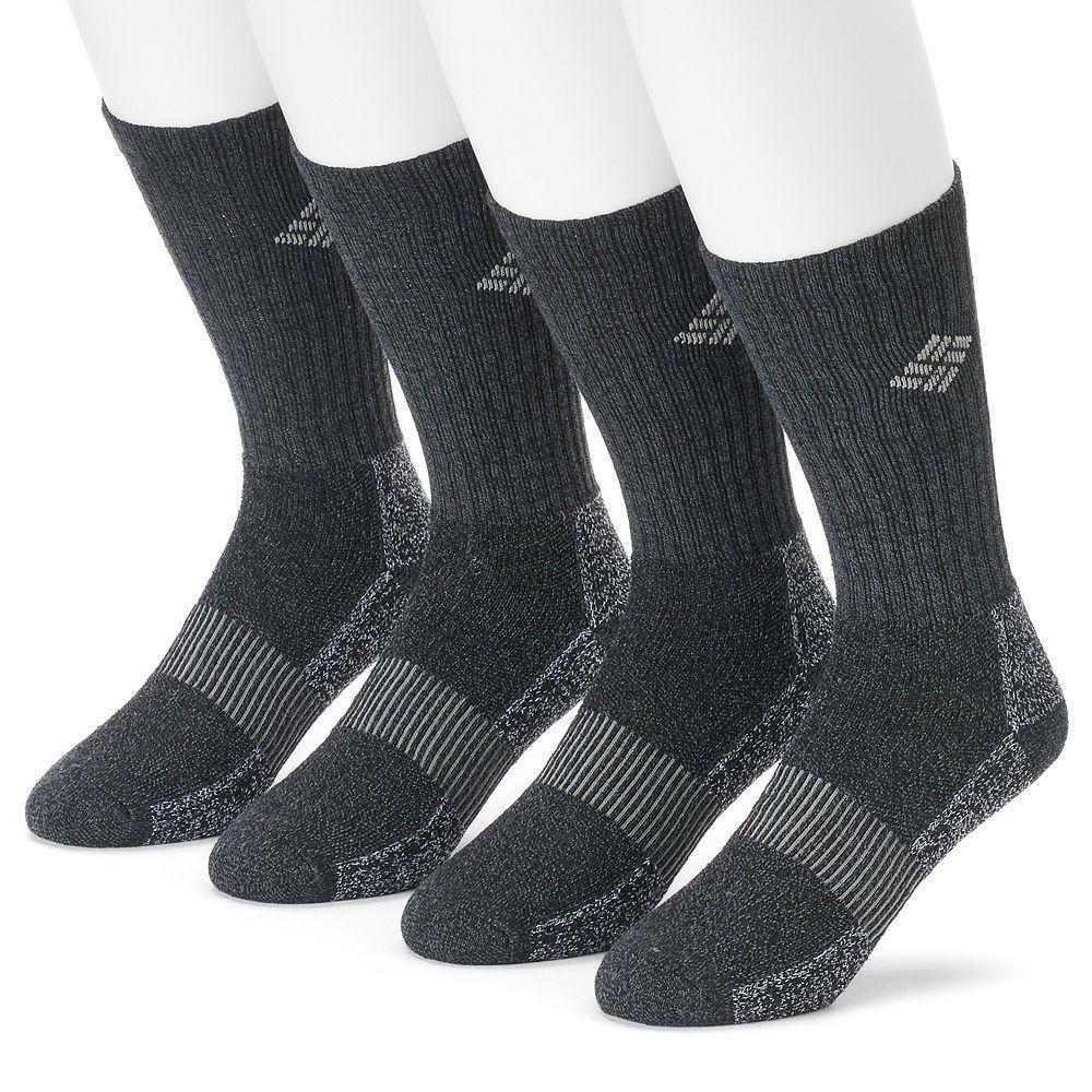 Columbia Men's Moisture Control Ribbed Crew Socks