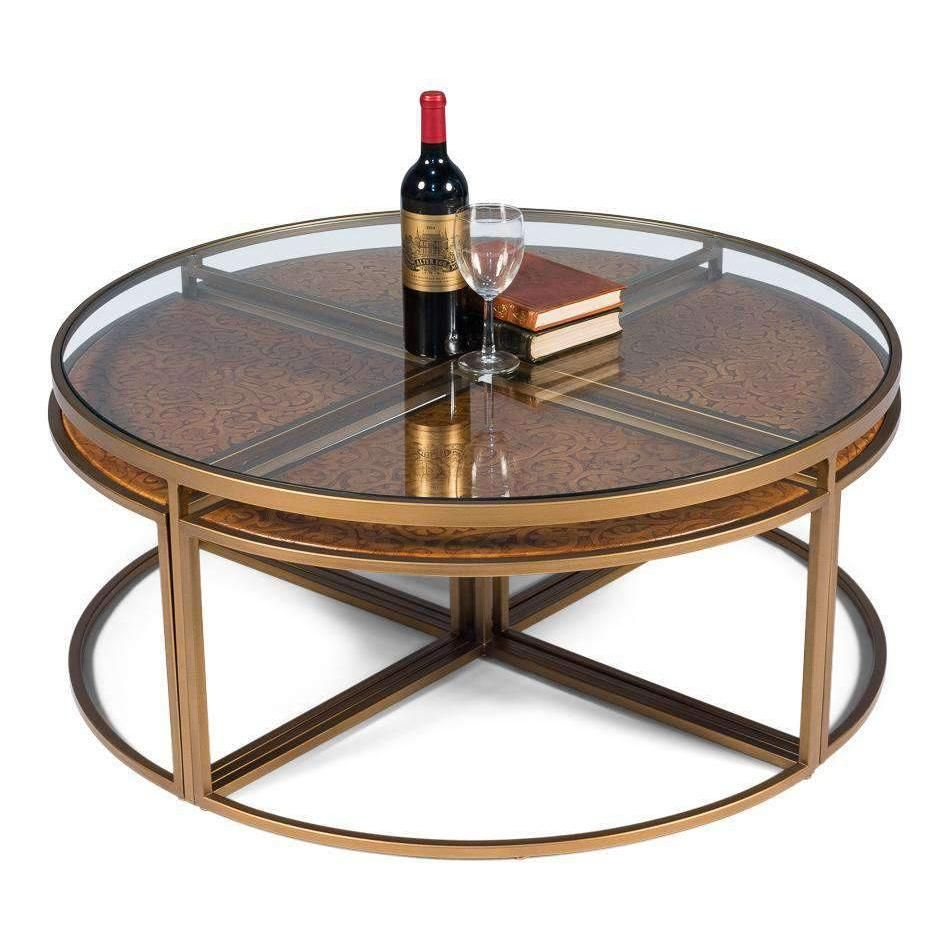 Quincy Coffee Tabledefault Title In 2020 Coffee Table Brass Round Coffee Table Top Grain Leather [ 950 x 950 Pixel ]