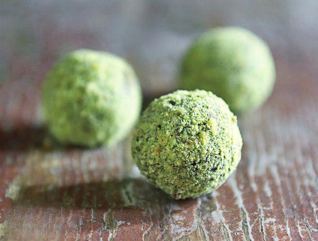 Pump up these stunning chocolate pistachio truffles with a splash of pistachio liqueur.