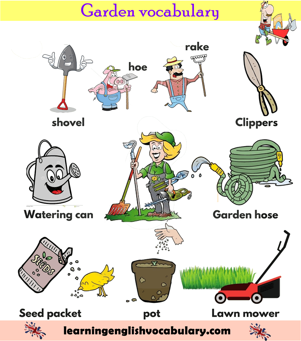 Garden Equipment Maintenance Vocabulary List With Pictures English Lesson