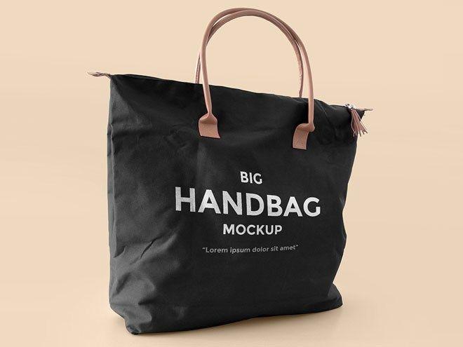 Download Free Realistic Handbag Mockup Psd 7 Mb Psdblast Free Photoshop Mockup Psd Realistic Handbag Bag Mockup Big Handbags Handbag