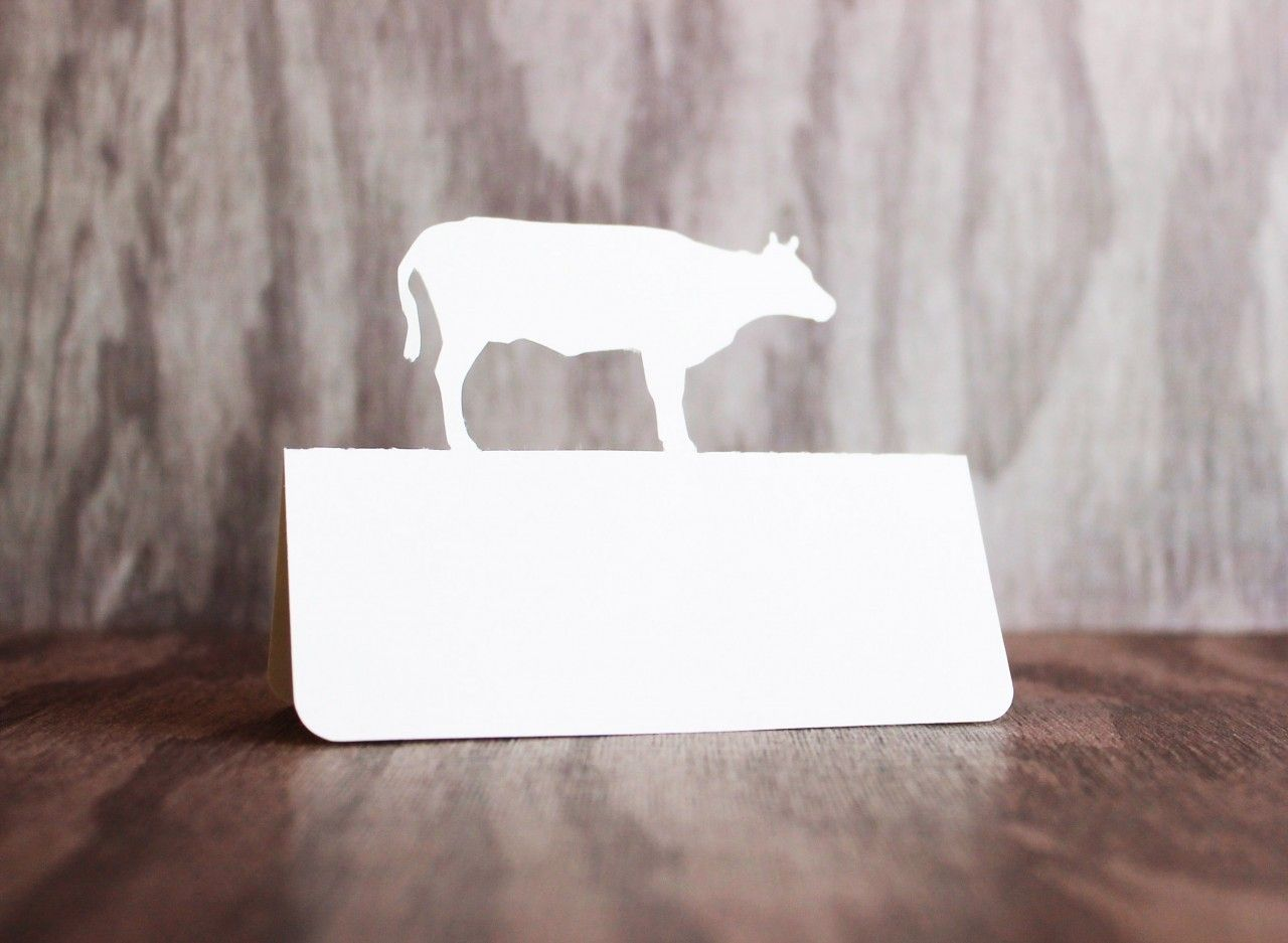 Cow Place Cards Place Cards Cow And Place Card