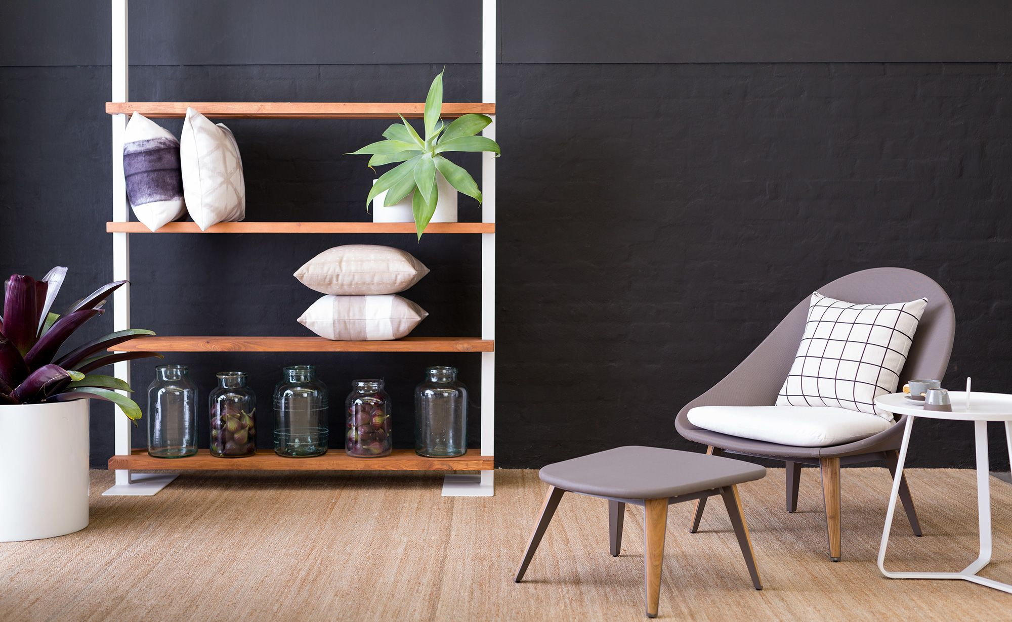 The St Martin Outdoor Shelf is a stylish storage solution for the modern outdoor space. Available exclusively at Coco Republic. #CocoRepublic #Outdoorfurnishings #Shelf #Styling #Exteriors