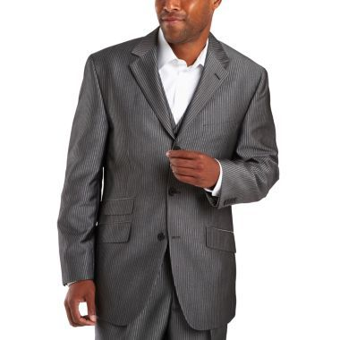 62ad5ef350 Steve Harvey® 3-Button Black Stripe Suit Jacket found at  JCPenney ...