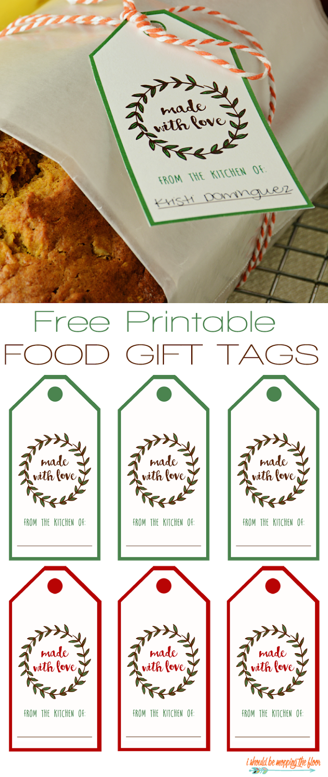 free printable food gift tags awesome things gift tags rh pinterest com
