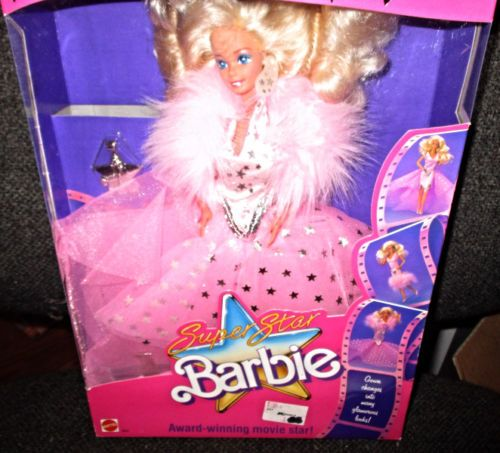 1988 Super Star SuperStar Barbie Movie Star 1604 - Star Earrings, Gown and Bracelet - New in box NIB eBay - Silver Star Award Trophy - Award winning movie ...