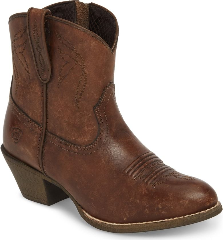 0125653cba2f Free shipping and returns on Ariat Darlin Short Western Boot (Women) at  Nordstrom.com. Kick up your heels cowgirl-style in this full-grain leather  bootie ...