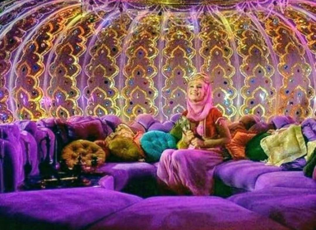 Interior Jeannie S Bottle Where My Love Of A Good Conversation Pit Began Idreamofjeannie Conver Cozy Place I Dream Of Jeannie Inspiration