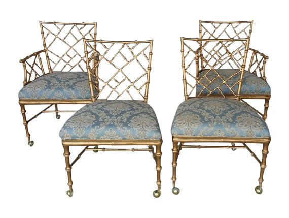 Phyllis Morris Style Chinese Chippendale Chairs 4