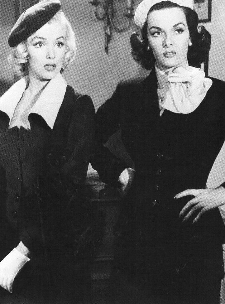"Marilyn Monroe and Jane Russell, ""Gentlemen Prefer Blondes"", 1953."
