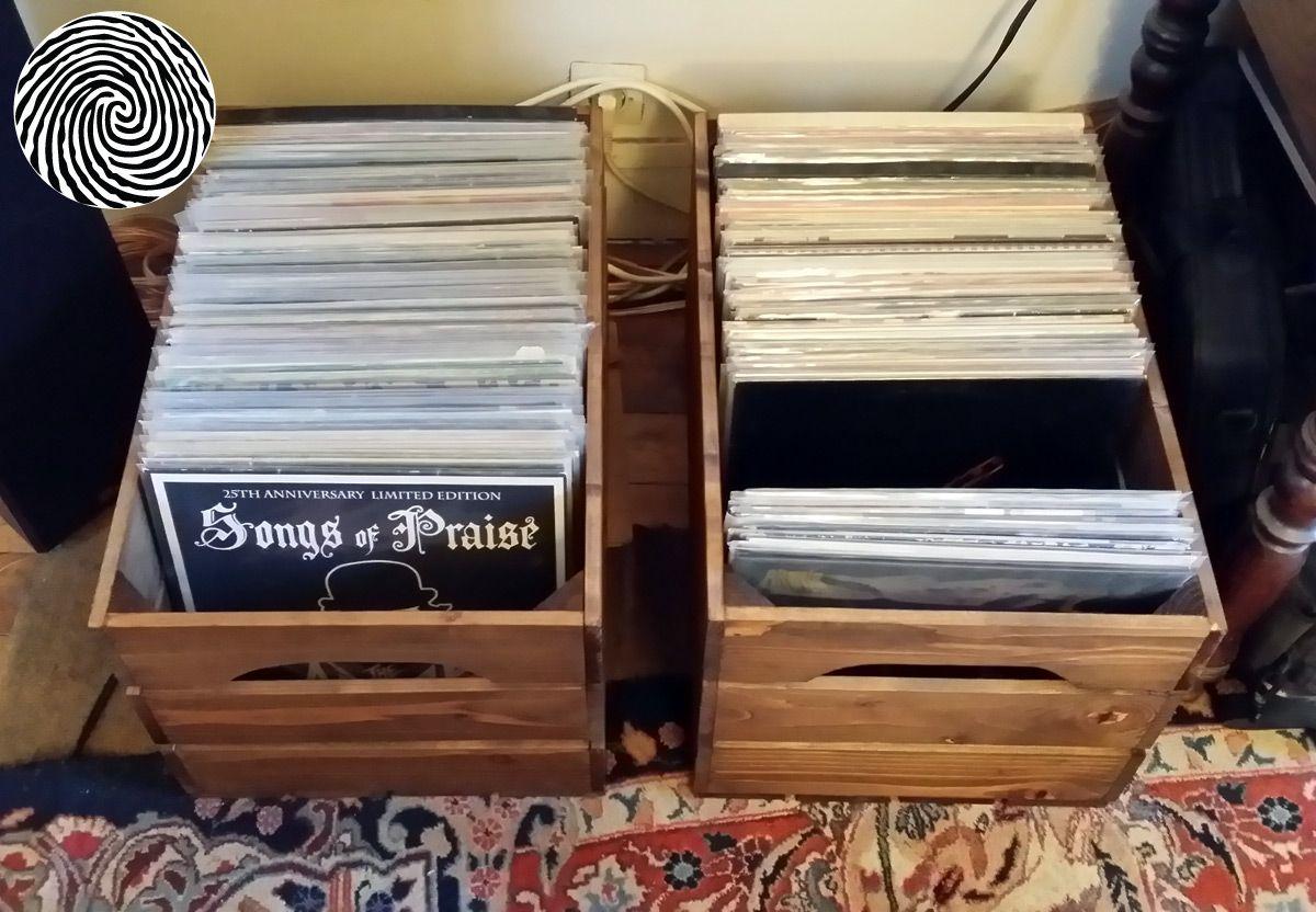 Caisse En Bois Standard Rangement Vinyle Meuble Vinyle Et