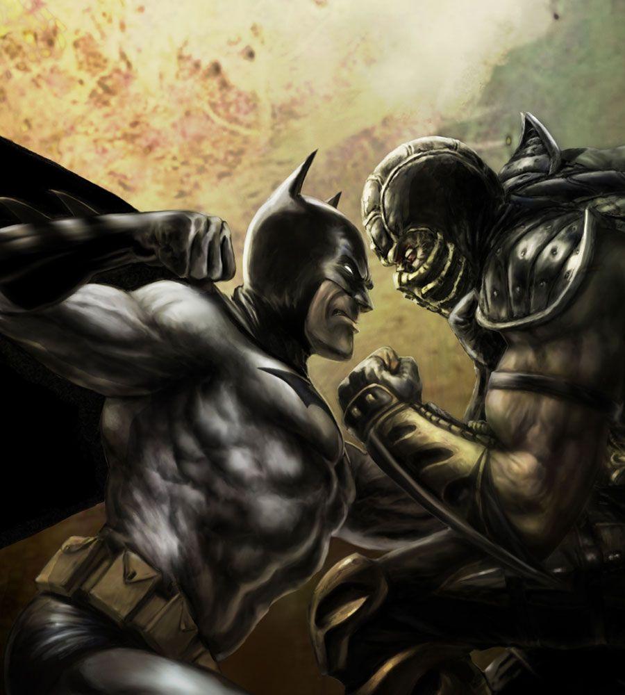 Batman vs Scorpion for Mortal Kombat vs DC Universe Game