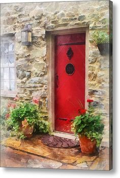 Image result for red cottage doors Cheery Front Doors