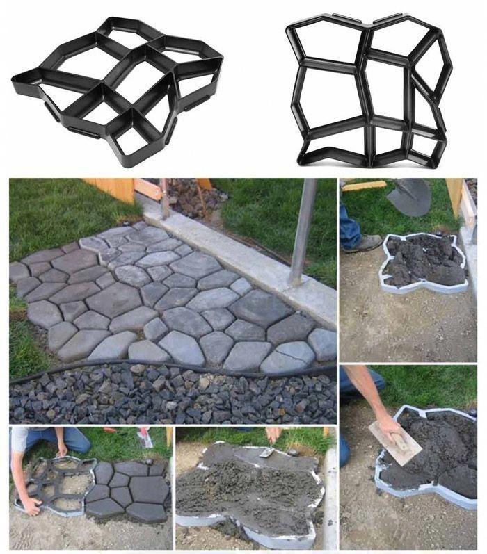 Irregular DrivewayPath Mold Patio Stepping Stone Garden Path Mold
