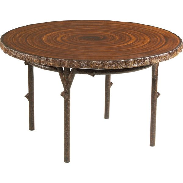 Woolrich Chatham Run Round Tree Trunk Dining Table ($1,249) Found On  Polyvore