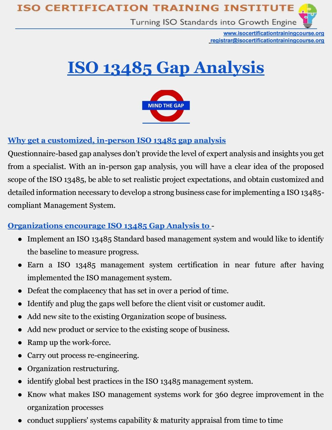 Gap Analysis Occupational Health And Safety Industrial Health