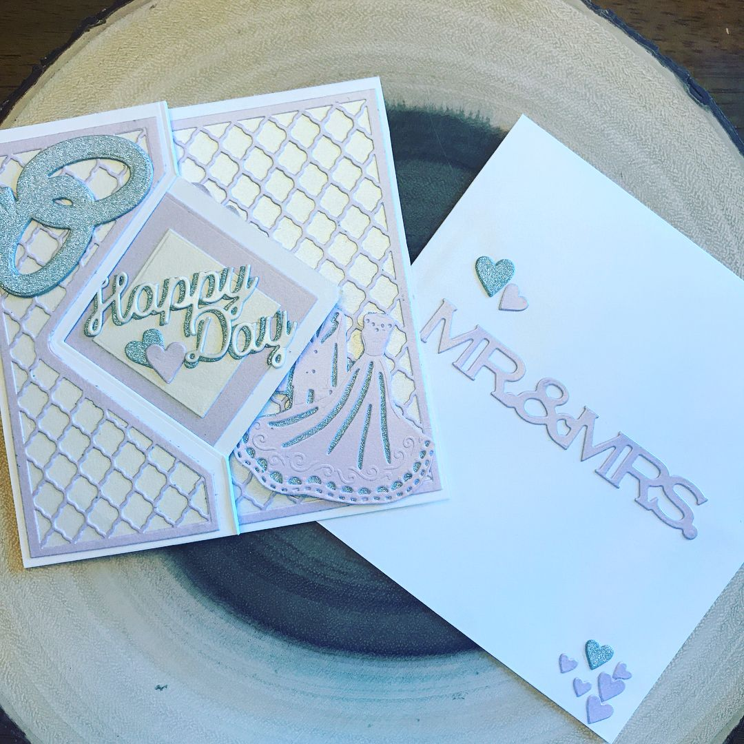 Handmade Wedding Card Made By Donna Decaro For Cardsbydecaro Using