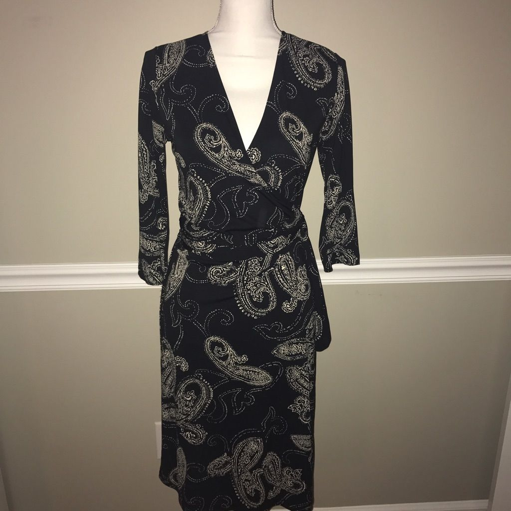 Limited small black paisley wrap dress products pinterest products