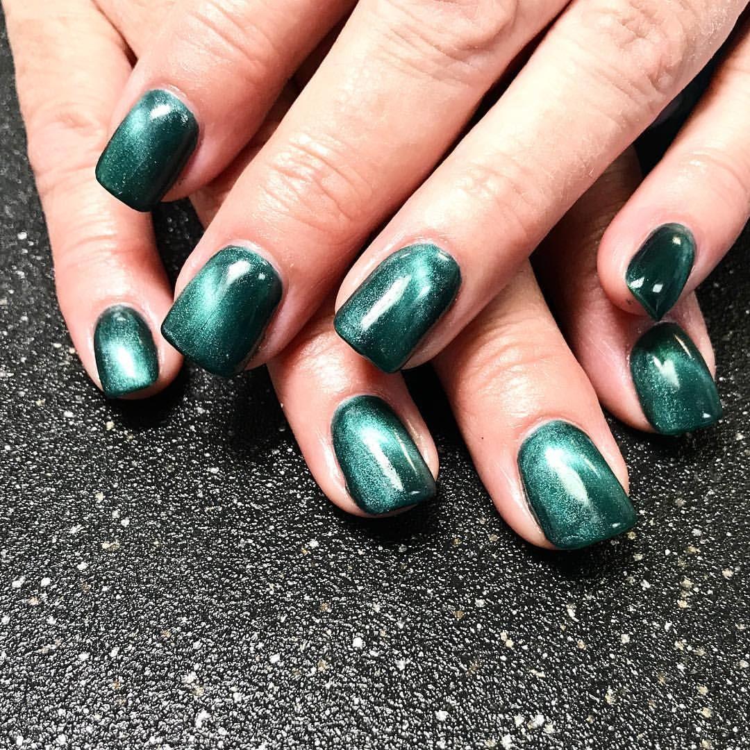 Cat eye magnetic gel nail polish gel nails green shimmer shifting ...