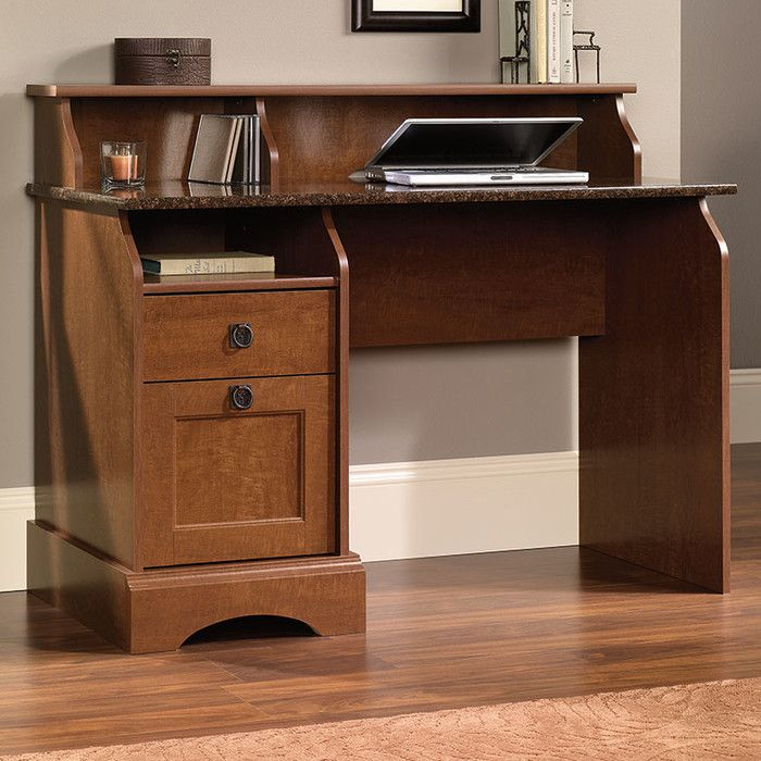 lovely storage charlton #1: Charlton Home Barker Writing Desk with 2 Storage Drawers u0026 Reviews | Wayfair
