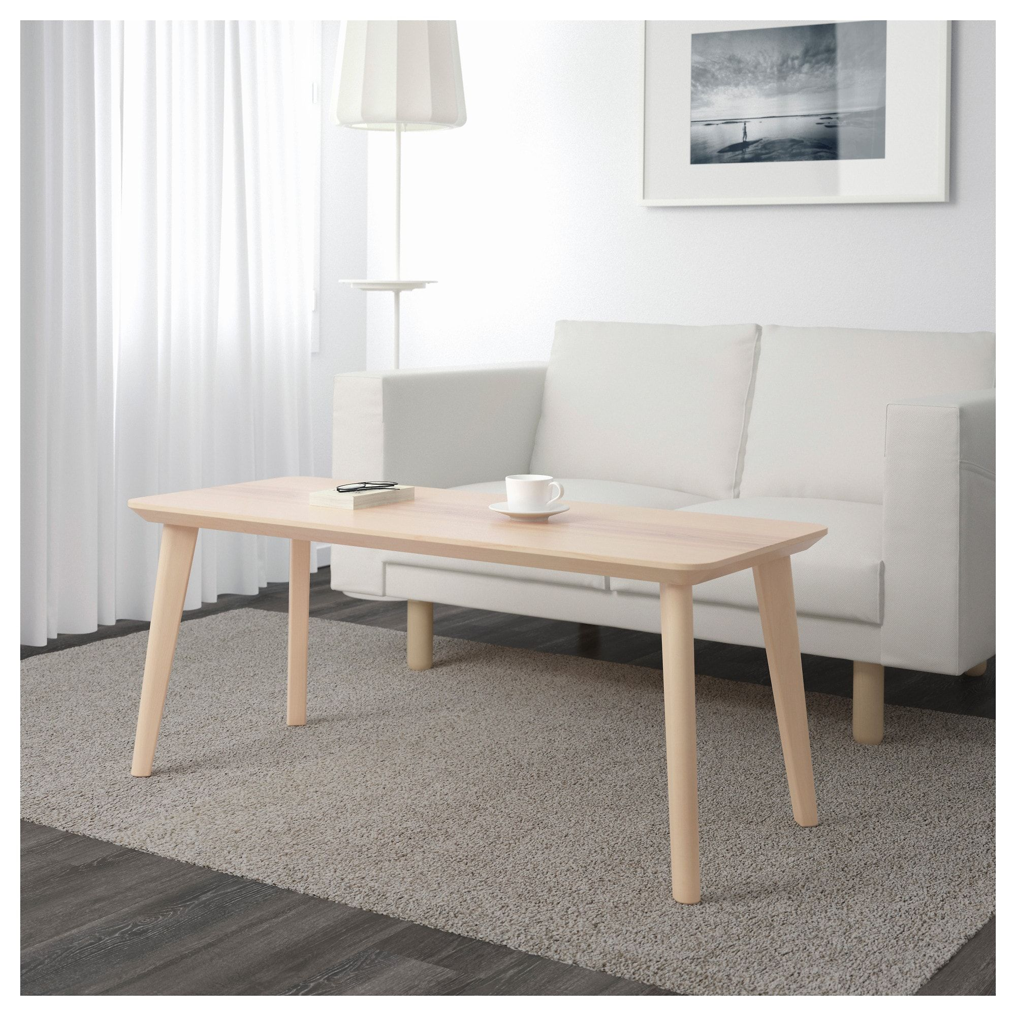 Lisabo Table Basse Plaque Frene 118x50 Cm Ikea Suisse Birch Dining Table Coffee Table Furniture [ 2000 x 2000 Pixel ]
