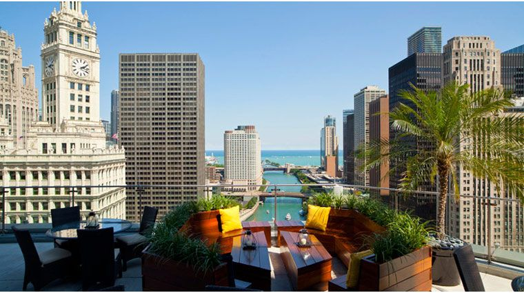 Trump Hotel Chicago - Chicago, IL (Stunning views of the city and their outdoor terrace is an ideal spot in a summer)
