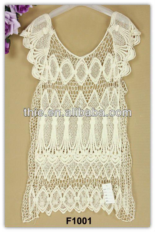 2013 cinta patrón de ganchillo ocasionales vestidos de encaje ...