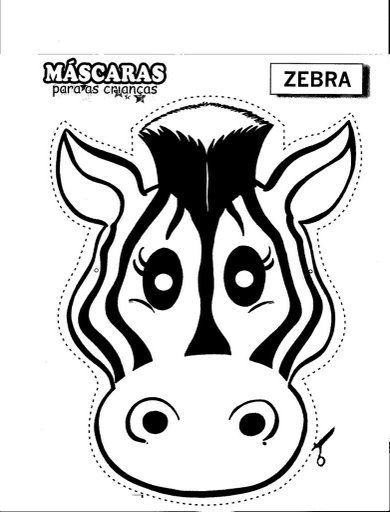 Zebra Mask Free Coloring Pages Zebra Craft Printable Animal