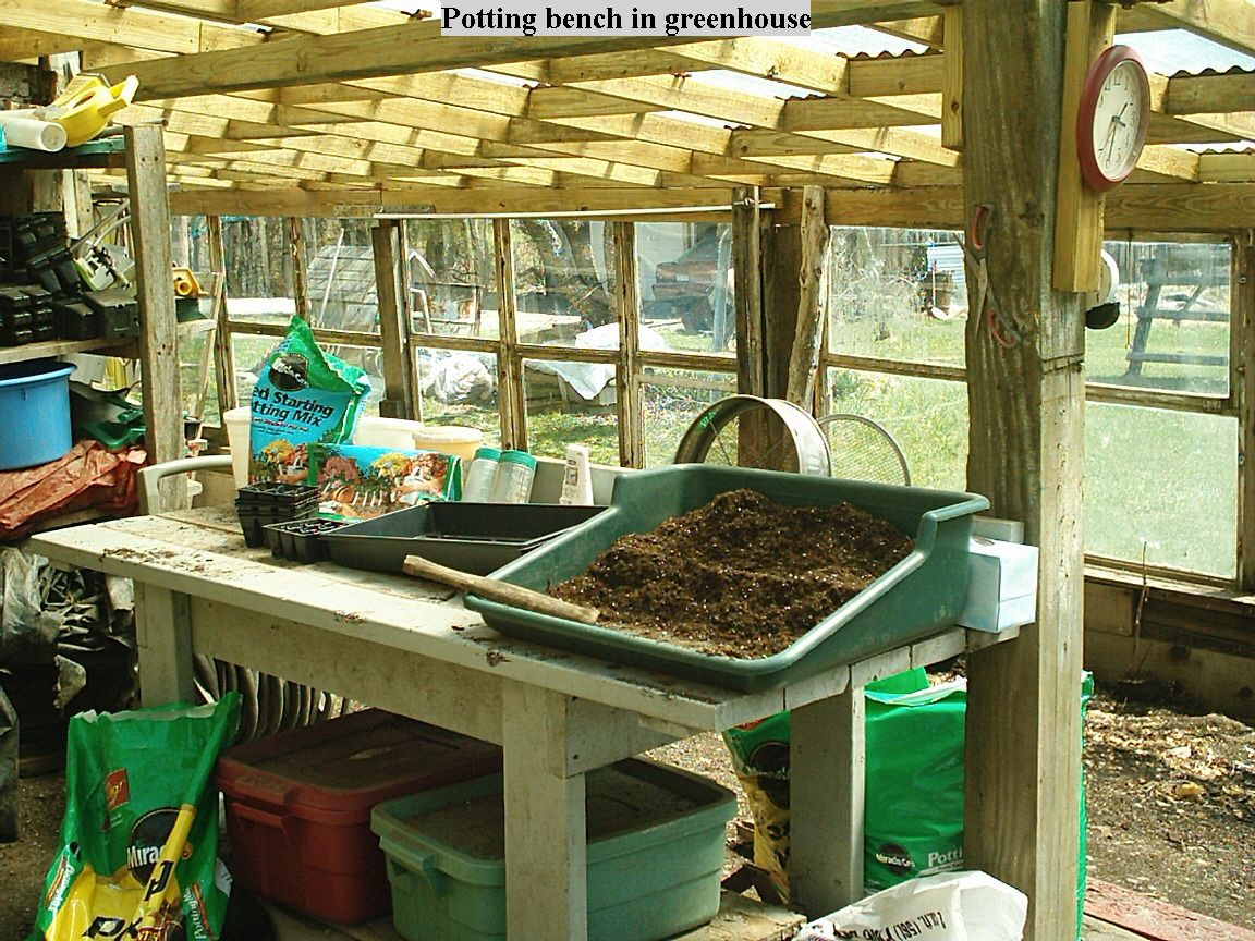Potting Bench Potting Bench In Greenhouse Potting Benches Pinterest