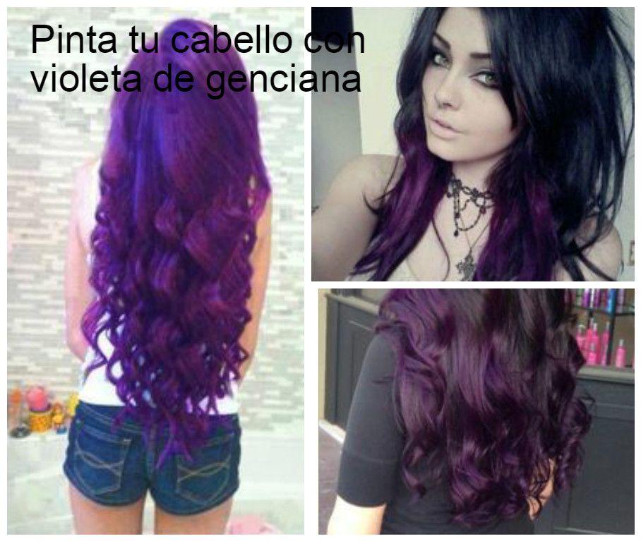 Violeta genciana para cabello