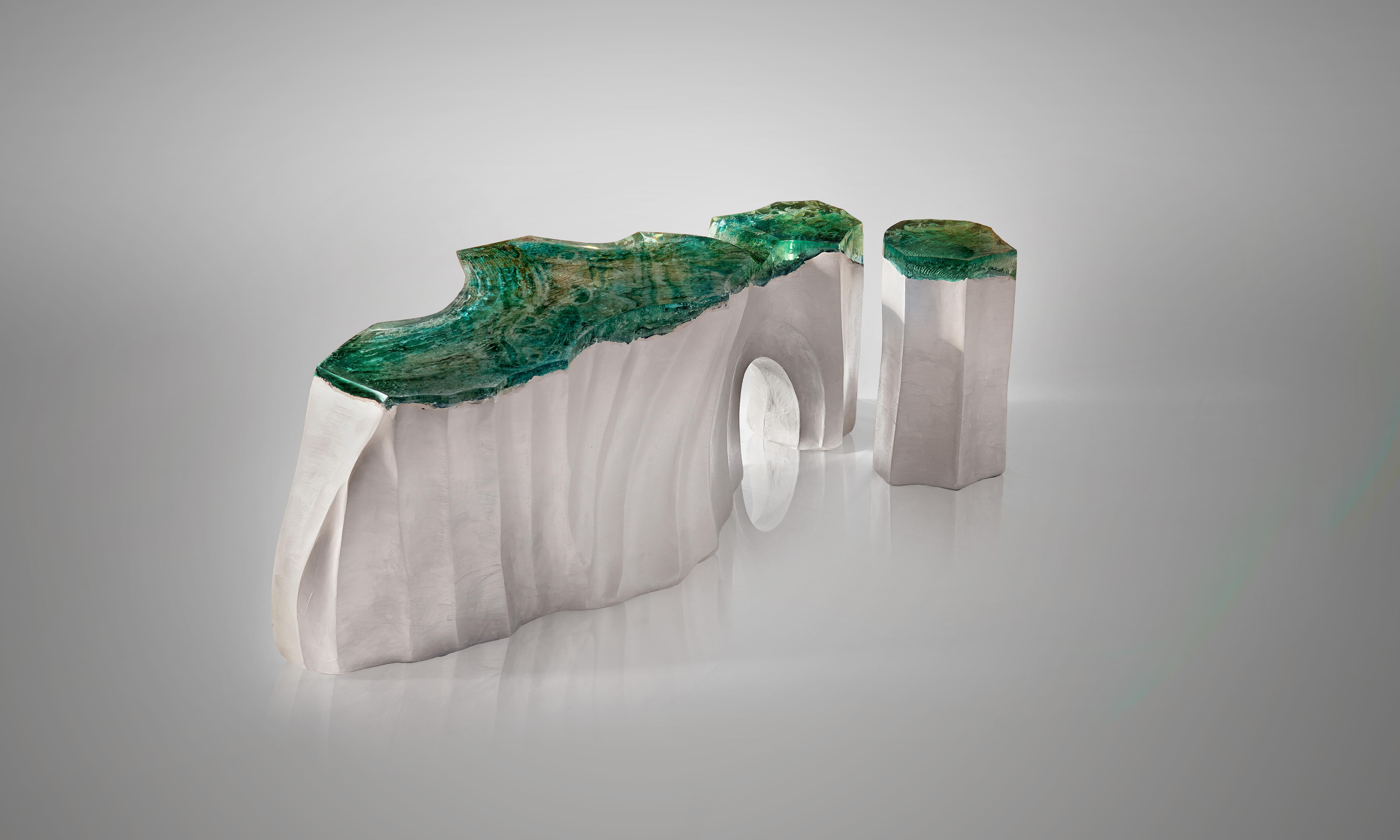 La Falaise Bench Side Table By Eduard Locota 2 Pieces In 2021 Sculpture Nature Inspiration Side Table