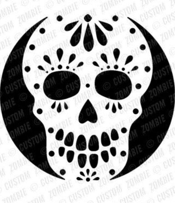 Pin By Beverlie Berry On Blackout Halloween Pumpkin Templates Sugar Skull Pumpkin Pumpkin Stencil